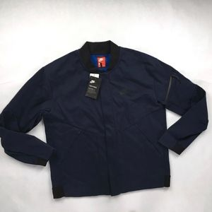 Nike Tech Fleece Repel Varsity Jacket Navy Blue